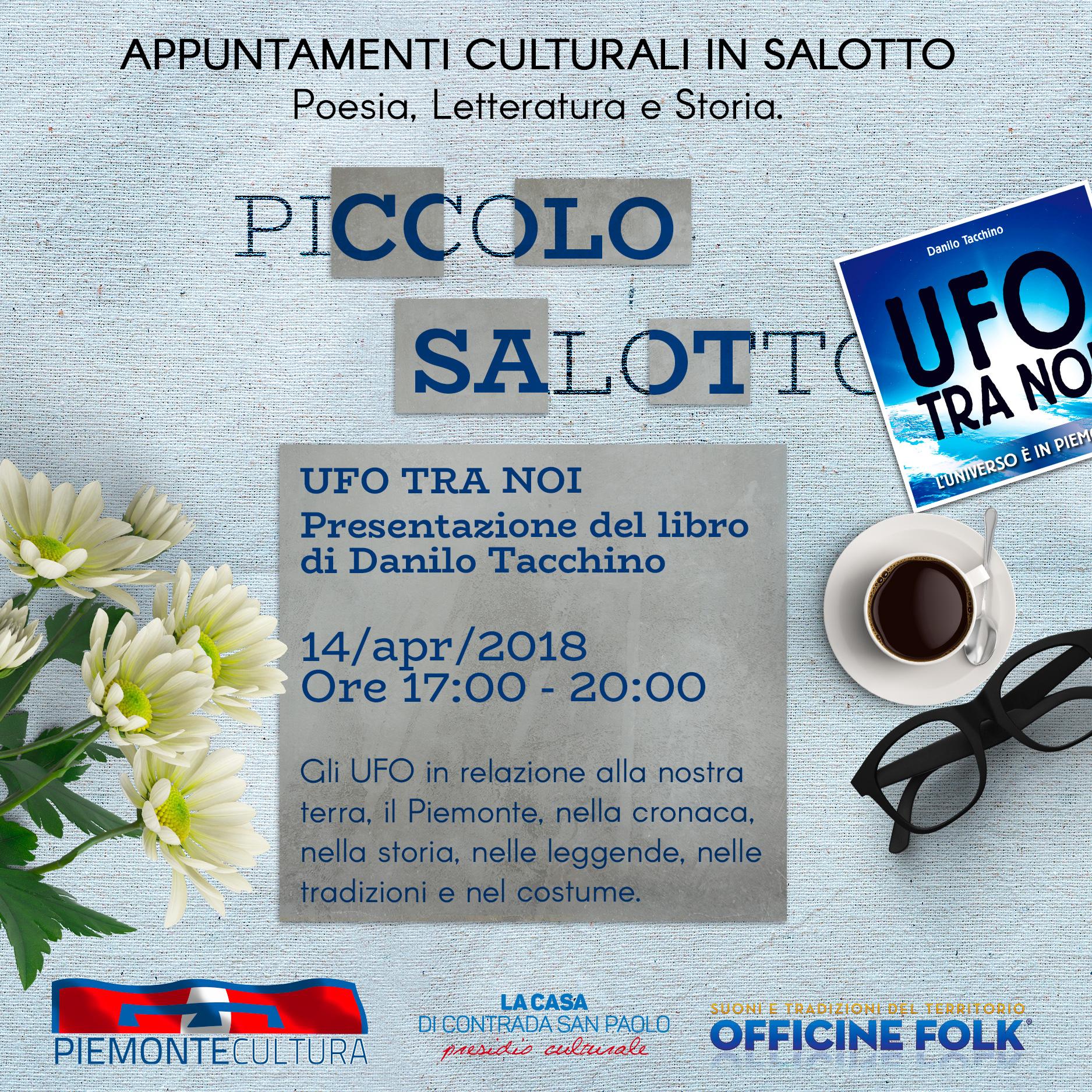 """Nel Sal8 di via Luserna 8 - D. Tacchino presenta """"Ufo tra noi"""""""